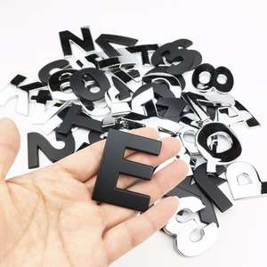 Image 3 - Car Styling 3D Metal personality Letters Number Emblem Chrome DIY Car Sticker Badge Auto Logo Accessories Motorcycle sticker