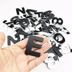 Image 3 - Letras de personalidade 3d em metal, emblema em metal adesivo de cromo insígnia para automóveis, acessórios para motocicletas