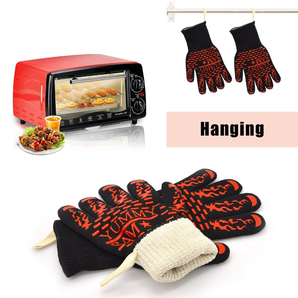 Heat resistant font b safety b font microwave oven use silicone hand font b gloves b