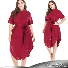 Plus Size 5XL Blusas Mujer De Moda 2019 Summer Red Abaya Dub