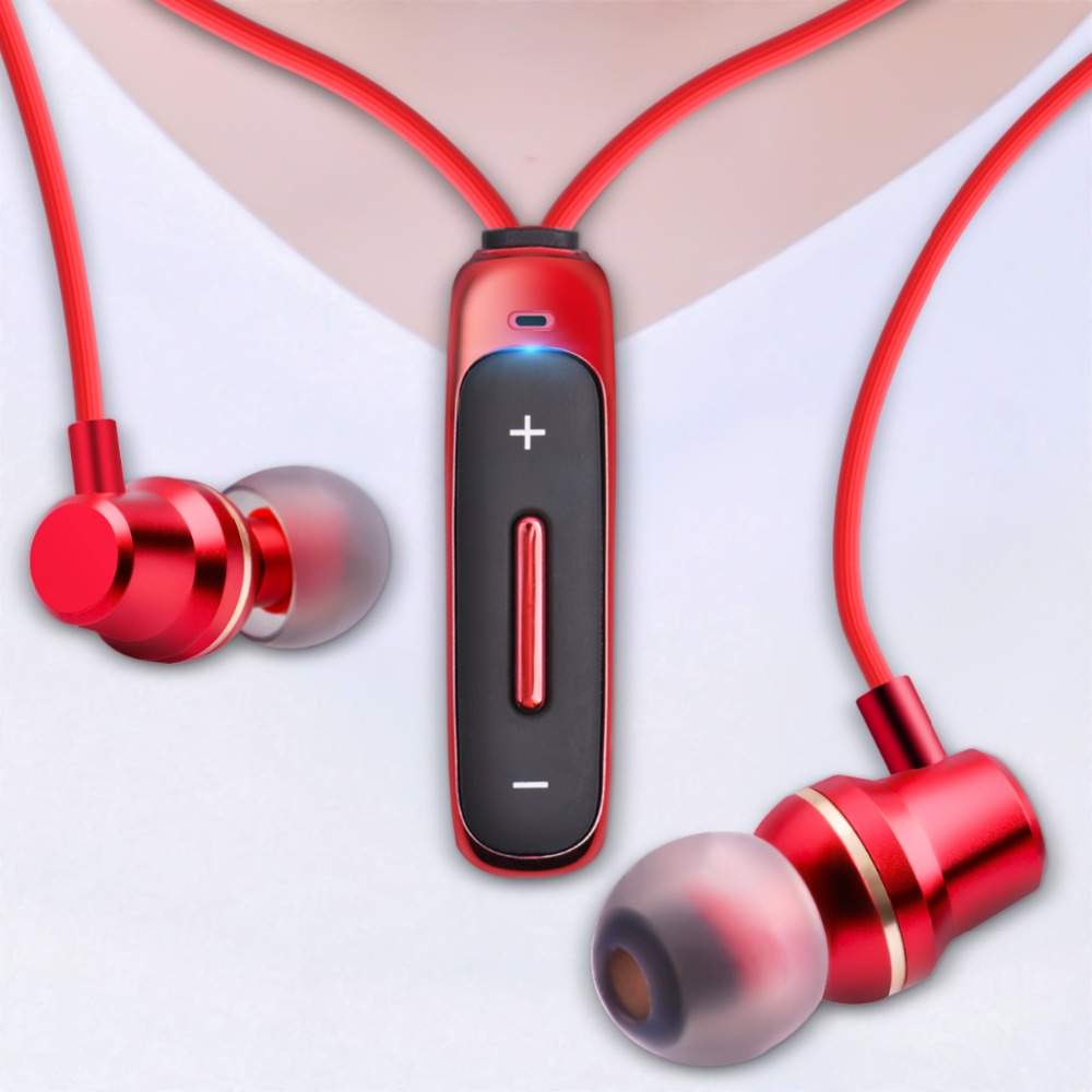 FONKEN Bluetooth Écouteurs in-Ear Sans Fil Écouteurs avec mic Sport Basse Magnétique Collier Écouteur dans L'oreille Mobile Téléphone Écouteurs