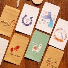 50 pcs Mini sacs en papier Kraft pour cadeaux licorne merci petit sac cadeau sirène fête de mariage faveur sacs lama papier bonbons sacs