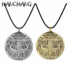 Collier nordique Viking Yggdrasil Odin pour hommes, amulette en forme d'arbre de vie, amulette, symbole Trishelion