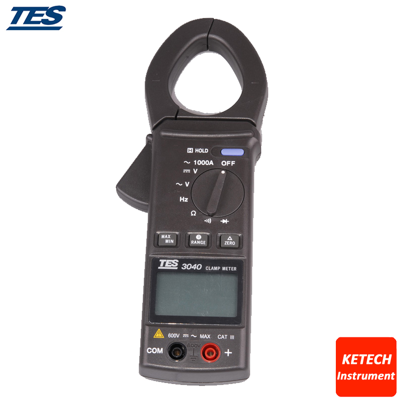 AC Clamp Meter Communication Hook Table TES3040 AC Clamp Meter Communication Hook Table TES3040