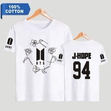 BTS Army 100% Cotton T-Shirts (Black & White)
