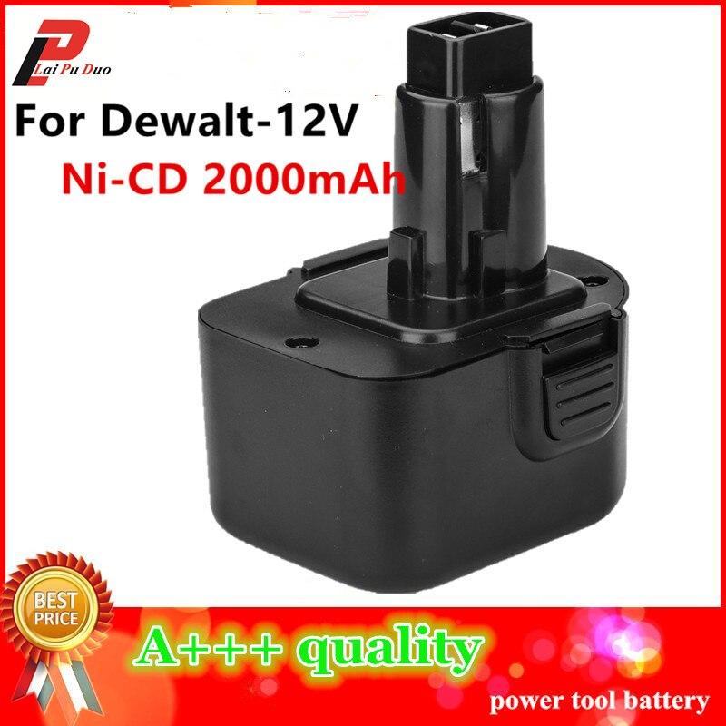 Ni-CD 2.0Ah Replacement Power Tool Battery For Dewalt 12V 2000mah DE9074 DC9071 DE9037 DE9071 DE9074 DE9075 DW9071 DW9072 DW9074