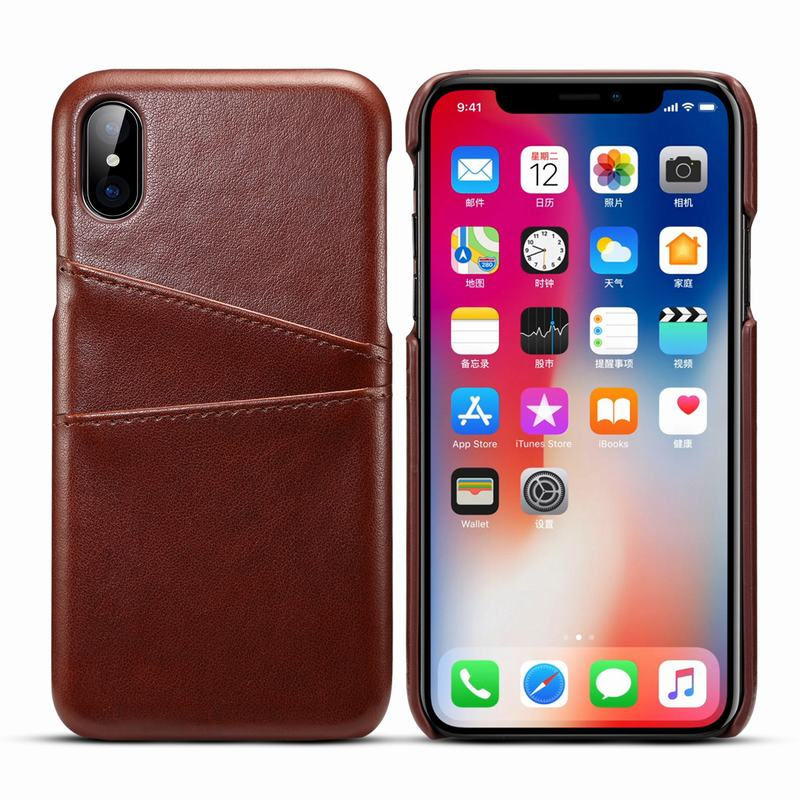 Leather Case For iphone 8 Plus Back Cover Card Slot For Business Men Luxury Case For iphone 10 X 7 6 6s Plus Case 8 plus 7plus