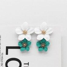 Новые модные ювелирные изделия элегантные серьги-капли с цветком пляжные вечерние серьги женская серьга