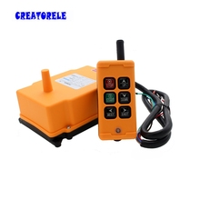Interruptor de botón transmisor inalámbrico con control remoto industrial, novedad, HS 6, grúa, China