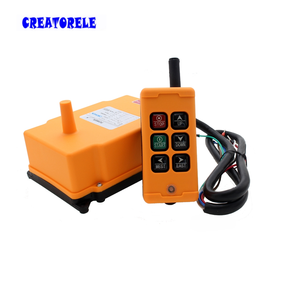 New Arrivals crane industrial remote control HS-6 wireless transmitter push button switch China hs 10s crane industrial remote control switch hs 10s wireless transmitter switch