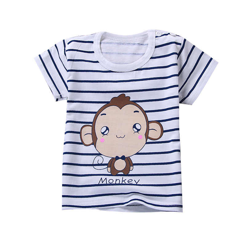 Summer Baby Boy Tops Kids Cotton T-shirt Casual Short Sleeve Toddler Clothes Tops Baby Shark Clothes Boys Short Sleeve Tops