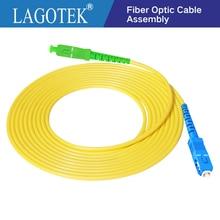 10 adet/torba SC APC SC UPC 3m Simplex modu fiber optik yama kablosu kablosu 2.0mm veya 3.0mm FTTH fiber optik bağlantı kablosu