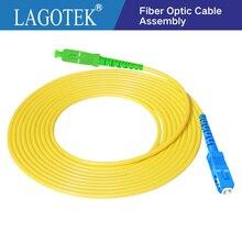 Cable de parche de fibra óptica, cable de puente de fibra óptica FTTH de 2,0mm o 3,0mm, 10 unids/bolsa SC APC SC UPC 3M