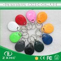 (100pcs/lot) 125KHz EM4305 RFID Programmable Keyfob Rewritable Key Finders Keychain For Copy EM4100