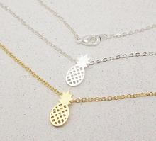 Jisensp – collier en forme d'ananas pour femmes, chaîne de couleur or, mignon, Bijoux tropicaux, pendentifs, offre spéciale