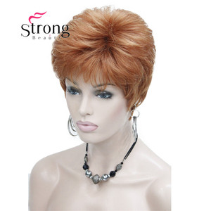 Image 3 - StrongBeauty Very Short Orange Brown Blonde High Heat Resistant Full Synthetic Wig COLOUR CHOICES