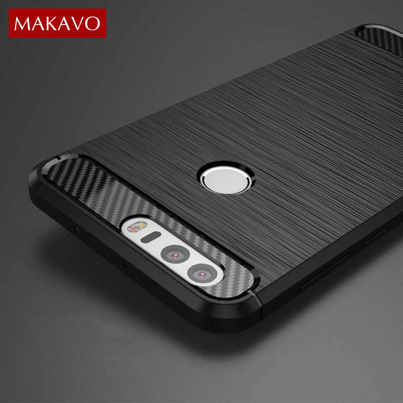 MAKAVO For Huawei Honor 8 Case Silicon Armor Soft Housing for Huawei Honor8 Pro Flexible Fundas Back Phone Cover Honor 8 Lite