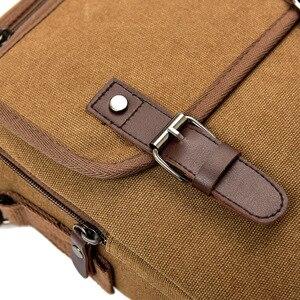 Image 4 - Hot Fashion Canvas Men Shoulder Bags Vintage Messenger Crossbody Bags for Men Satchel Big Capacity Casual Tote Bag Men Handbag