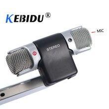 Kebidu elektryczny kondensator Stereo czysty głos mini mikrofon do komputer stancjonarny Laptop telefon komórkowy do Samsung galaxy S3 S4