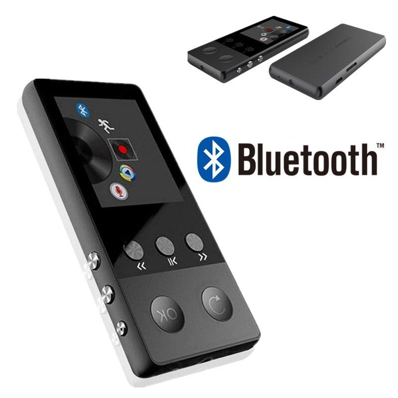Новые металлические Bluetooth MP3 плеер Портативный аудио 8 ГБ с Встроенный динамик FM радио APE Flac музыкальный плеер