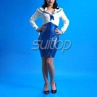 Fashion Latex uniform for ladies School girl dress cosplay