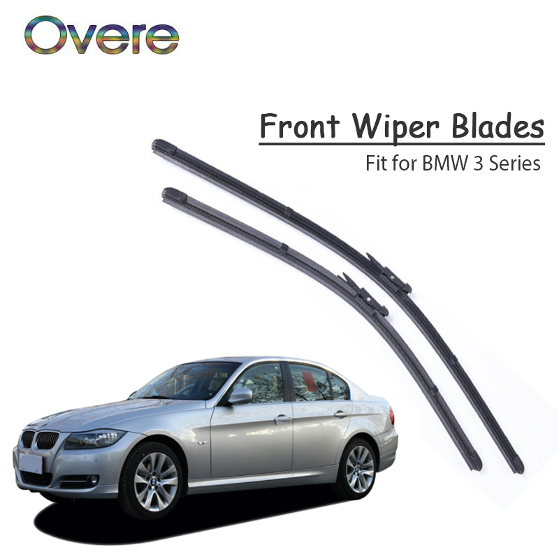 Overe 1Set Rubber Car Front <font><b>Wiper</b></font> Blade Kit For <font><b>BMW</b></font> <font><b>F30</b></font> E46 E90 E91 E92 E36 E93 F31 <font><b>BMW</b></font> 3 Series Front <font><b>Windshield</b></font> accessories image