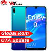 global rom Huawe Enjoy 9 Y7 2019 6.26 inch 1520*720P mobile phone Snapdragon 450 Octa core Dual Rear AI Camera 4000 mAh