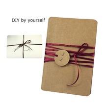 50 Pcs/lot Vintage DIY Blank Series Postcards Kraft Paper Greeting Card Brown White Black Gift Wholesale
