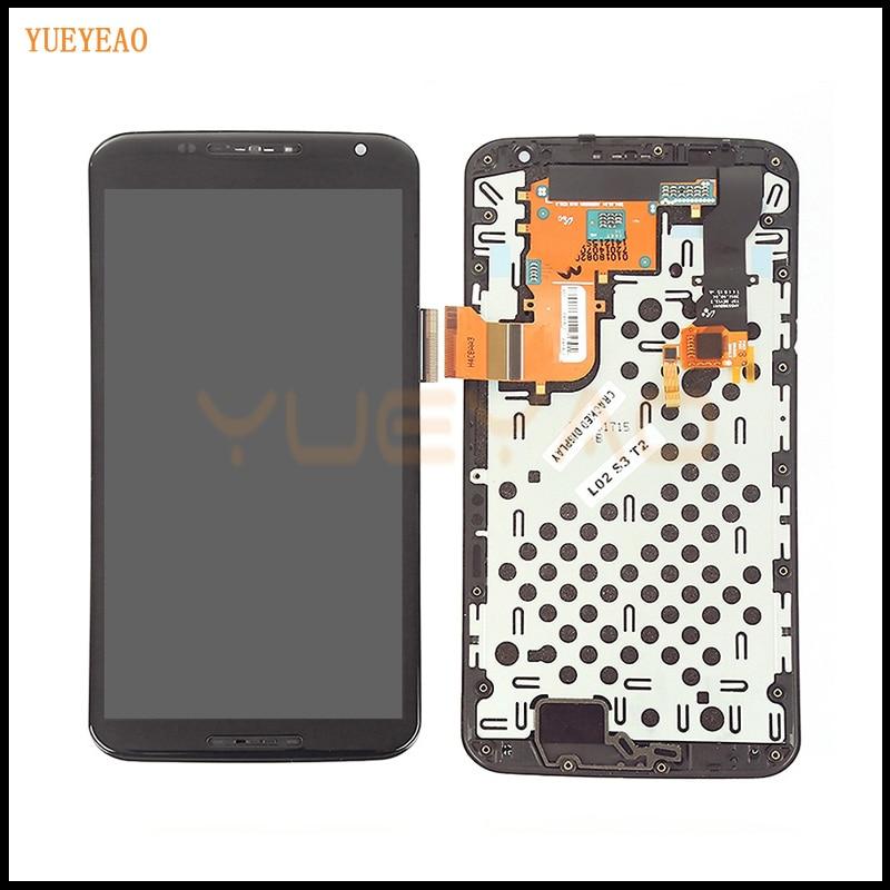 YUEYAO écran tactile d'affichage à cristaux liquides pour motorola Nexus 6 XT1100 XT1103 verre LCD écran tactile numériseur assemblée avec cadre