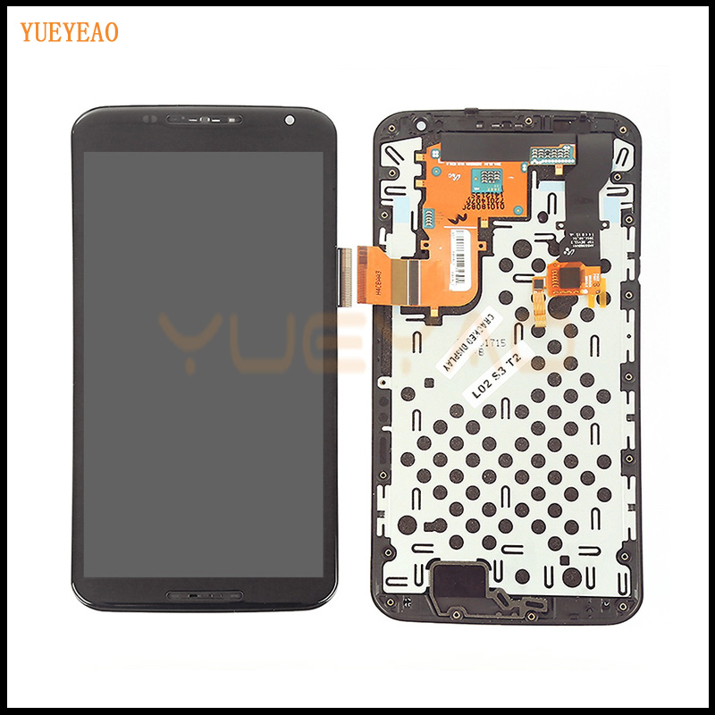 YUEYAO LCD Display Touch Screen For motorola Nexus 6 XT1100 XT1103 Glass LCD Display Touch Screen Digitizer Assembly with Frame