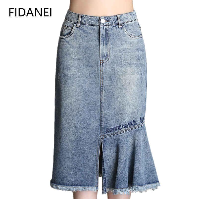 Джинсовая юбка для женщин Весна нестандартное платье с юбкой годе