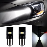 2pcs 1156 800LM 6LED 6500K P21W BA15S LED Bulb Auto Parking Back Up Brake Fog Lights