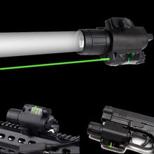 2in1 Powerful Green Laser Sight Scope Combo W Tactical CREE Q5 LED Flashlight W 20mm Rail QD Mount For Rifle Glock AR Fishing