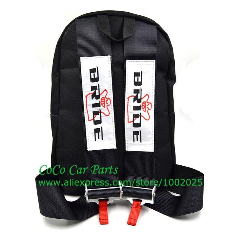 HTB1GycwKVXXXXXTXVXXq6xXFXXXS black color jdm bride fabric harness backpack laptop bag drift race