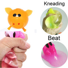 1 Pc Squishy Miele di Pesche Vent Giocattolo Splat Smash Spremere Kawaii kid Toy Anti-stress Decompressione piccola sfera per bambini Pig Giocattoli K0305(China)