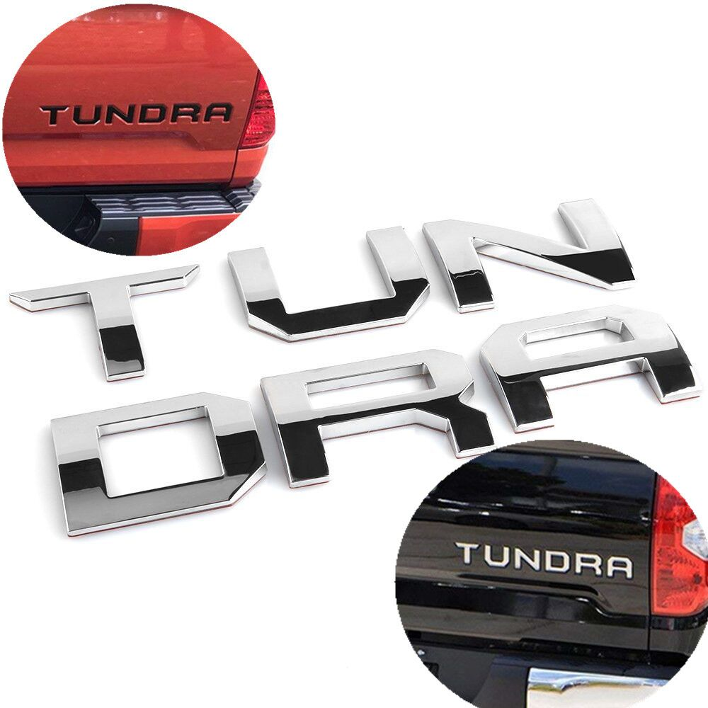 For toyota tundra 2014 2015 2016 2017 2018 tailgate 3d letter cover emblem badge car stickers