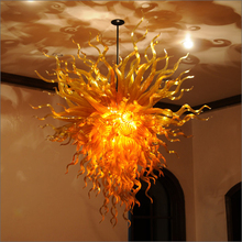 Dale Chihuly Style  Blown Glass Chandelier Lightings High Ceiling Decoration for sale ocean style blue blown glass chandelier lightings indioor hanging lamps