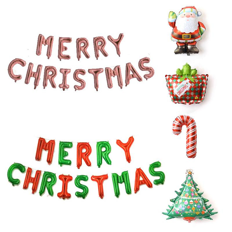 Christmas Letters.Us 8 92 43 Off 25pcs Set Merry Christmas Letters Foil Balloons Santa Claus Suit For Xmas Christmas Party Decoration In Pendant Drop Ornaments From