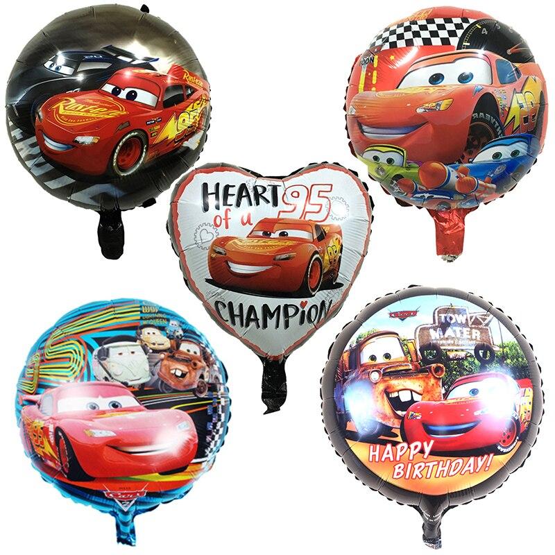 5 style Cartoon Car Foil Helium Balloons 18 inch round car balloon Dot latex baby kid