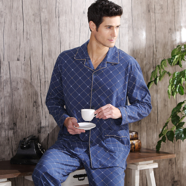 Men's Plus Size Cotton Pajamas