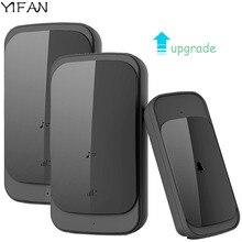 YIFAN Waterproof Wireless Doorbell touch EU US Plug upgrade 280M range smart Door Bell 58 ring battery 1 Transmitter 2 receiver