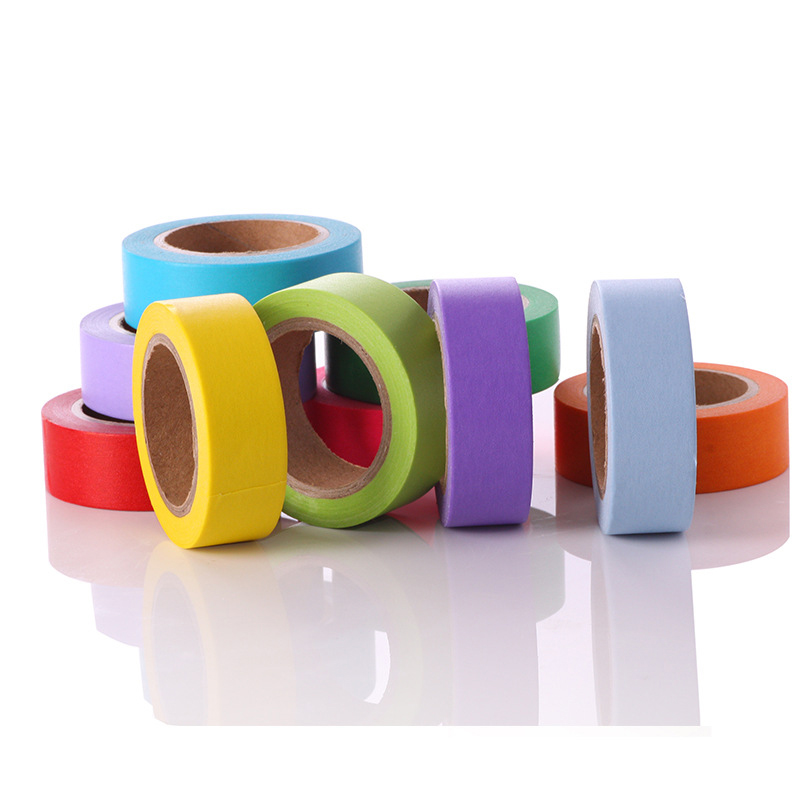 FGHGF 10 color Soft color paper washi tape 15mm*10m pure masking tapes Decorative stickers DIY Stationery school supplies