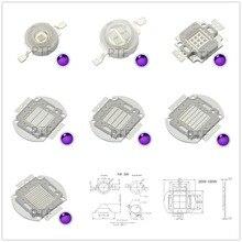 цена на UV Purple LED Ultraviolet Bulbs Lamp Chips 365nm 375nm 380nm 385nm 395nm 400nm 405nm 3W 5W 10W 20W 30W 50W 100W High Power Light