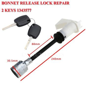 Zwalniania maski blokady i zatrzask zestaw naprawczy do naprawy 2 klucze 1343577 dla Ford Focus MK2 2004-2012
