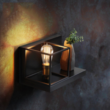 цена на Vintage Wall Lamp LED Wall Sconces Bedside Living Room Stair Aisle Bedside Cafe Bedroom Lamp Iron Wall Sconce Light Fixture