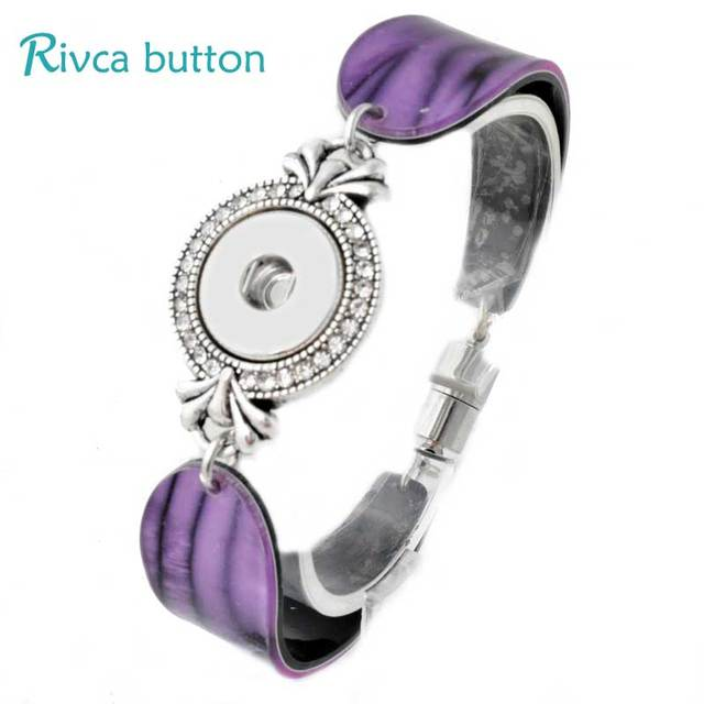 P00794 Snap Bracelet Bangles Gifts Newest Design Fashion On Magnetic Charm Bracelets For Women 18mm Rivca