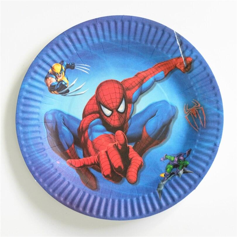 Assiette plastique Spiderman