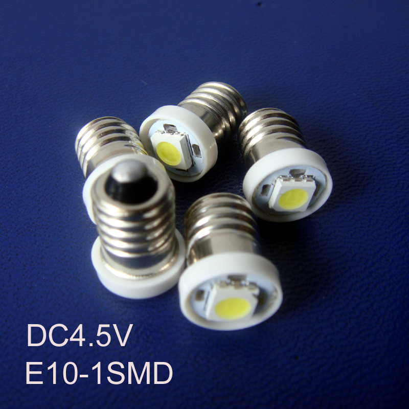 High quality DC4.5V E10 Led Instrument Light,E10 Led Bulb Lamp Light Led E10 Indicator Lamp Pilot Lamp free shipping 100pcs/lot