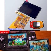 10 seviyeleri Yüksek Parlaklık IPS arkadan aydınlatmalı LCD Nintendo GBA Konsolu lcd ekran Ekran Ayarlanabilir Parlaklık GBA Konsolu
