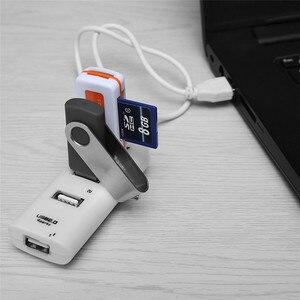 Image 4 - 4 יציאות USB 2.0 ספליטר כבל במהירות גבוהה USB רכזת USB מאריך USB ספליטר מתאם עבור מחשב נייד מחשב שולחני